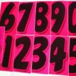 7 INCH PINK NUMBER STICKERS
