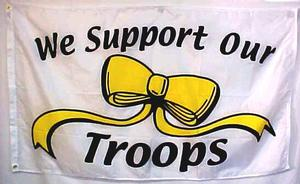 YELLOW RIBBON-SUPPORT OUR TROOPS FLAG