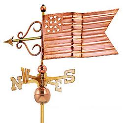 AMERICAN FLAG WEATHERVANE (POLISHED)