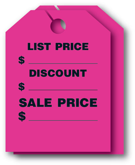 FLUORESCENT PINK HANG TAG