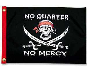 NO QUARTER NO MERCY PIRATE FLAG