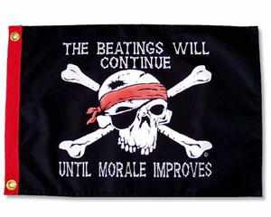 THE BEATINGS WILL CONTINUE… PIRATE FLAG