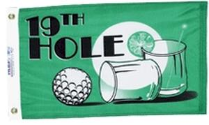 19th HOLE NYLON FLAG