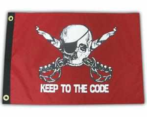 KEEP TO THE CODE PIRATE FLAG