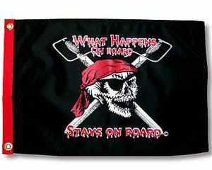 WHAT HAPPENS ON BOARD… PIRATE FLAG