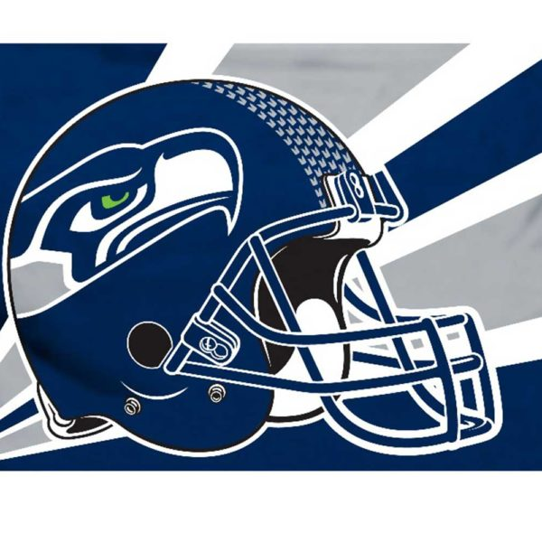 SEATTLE SEAHAWKS HELMET FLAG