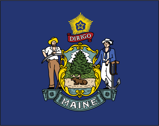 Maine flag elmers flag and banner for Maine flag coloring page