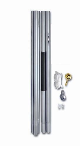 20′ SATIN ALUMINUM SECTIONAL FLAGPOLE
