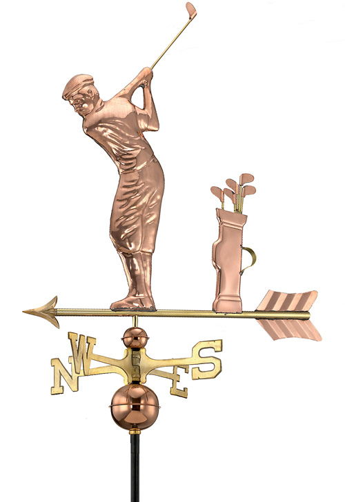 GOLFER WEATHERVANE (POLISHED)