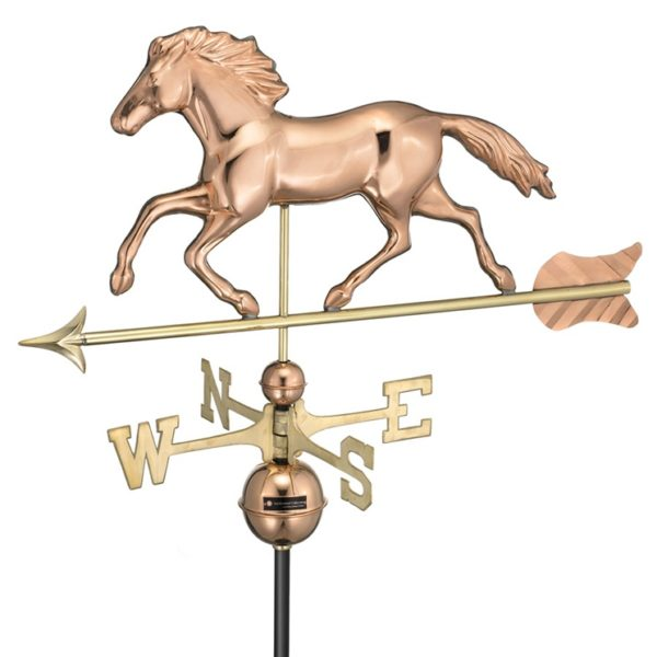 RUNNING HORSE WEATHERVANE (POLISHED)
