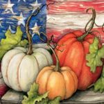 Patriotic Pumpkins House Banner