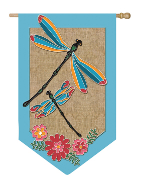 DRAGONFLIES [APPLIQUE BURLAP]