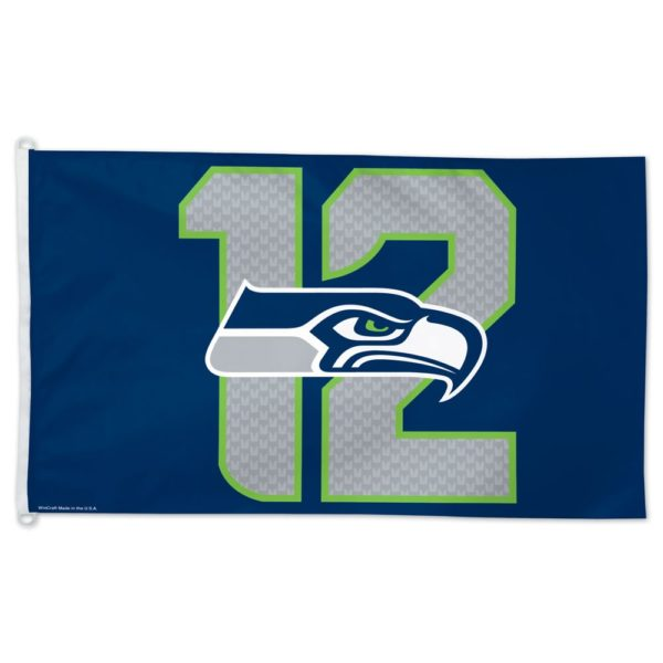SEATTLE SEAHAWKS 12 FLAG