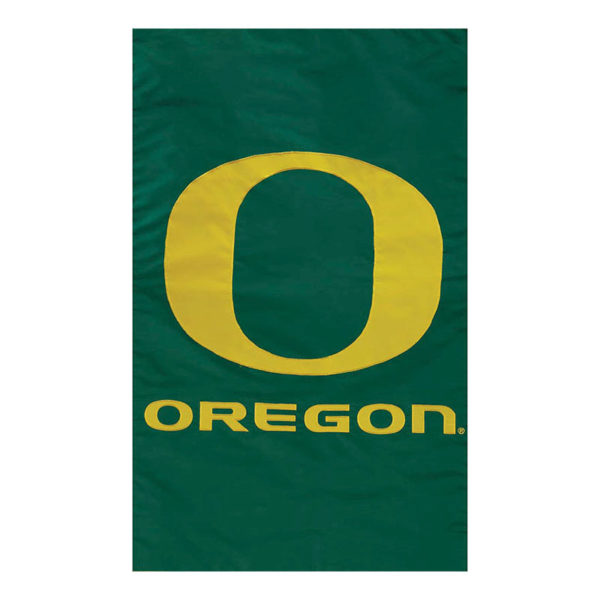 UNIVERSITY OF OREGON DUCKS GARDEN FLAG [APPLIQUE]