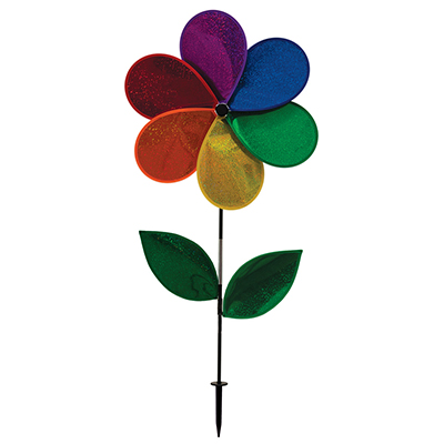 RAINBOW GLITTER FLOWER SPINNER