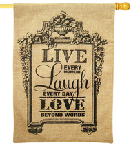 LIVE, LAUGH, LOVE [BURLAP]