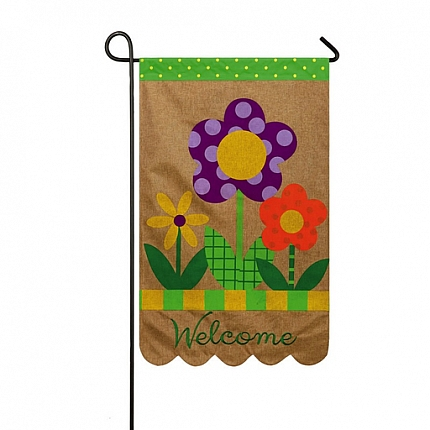 WELCOME FLOWERS [BURLAP]