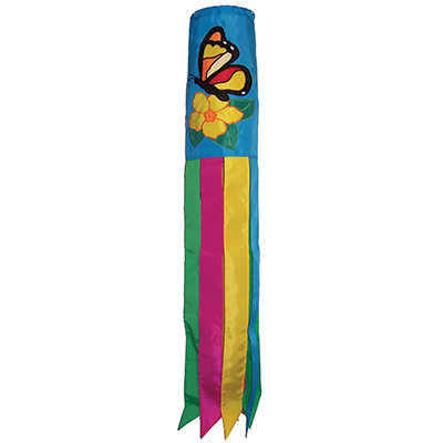 BUTTERFLY FLOWERS WINDSOCK