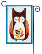 AUTUMN OWL [FELT GARDEN FLAG]
