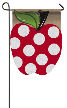 APPLE [BURLAP GARDEN FLAG]