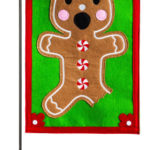 GINGERBREAD MAN [FELT GARDEN FLAG]