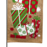 IT'S CHRISTMAS MORNING [BURLAP GARDEN FLAG]