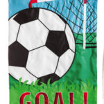 SOCCER GOAL [APPLIQUE GARDEN FLAG]