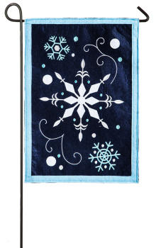 WINTER SNOWFLAKES [FELT GARDEN FLAG]
