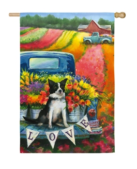 FLOWER TRUCK AND DOG