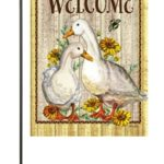WELCOME DUCKS [GARDEN FLAG]