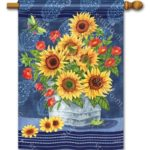 DENIM SUNFLOWERS