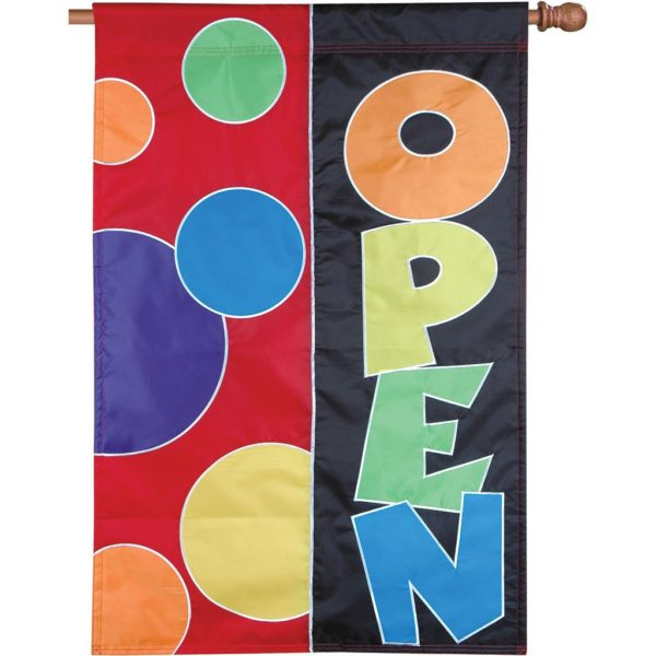 RAINBOW OPEN HOUSE BANNER [APPLIQUE]