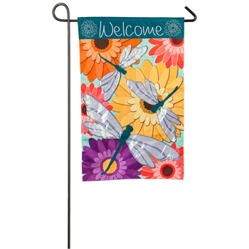 DRAGONFLY WELCOME [GARDEN FLAG]
