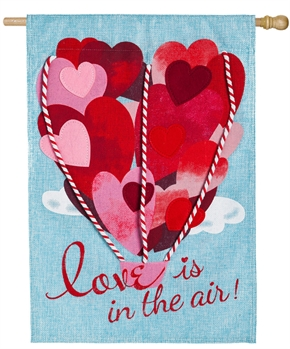 LOVE IS IN THE AIR [BURLAP]