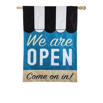 WE ARE OPEN [APPLIQUE]