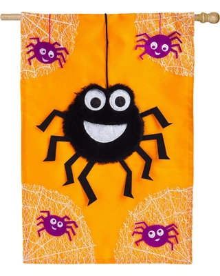 DANCING SPIDER [APPLIQUE GARDEN FLAG]