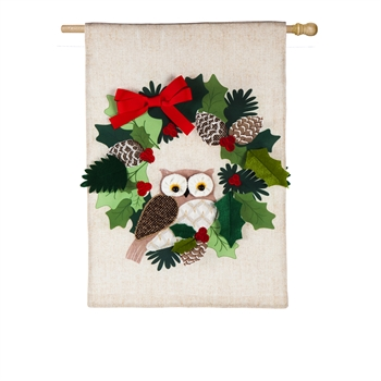HOLIDAY OWL [BURLAP]