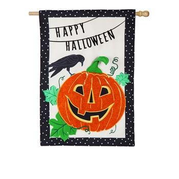 JACK O'LANTERN NIGHT [LINEN WITH APPLIQUE DETAIL]