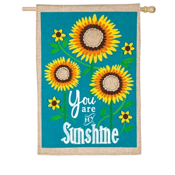 SUNFLOWER WELCOME [BURLAP]
