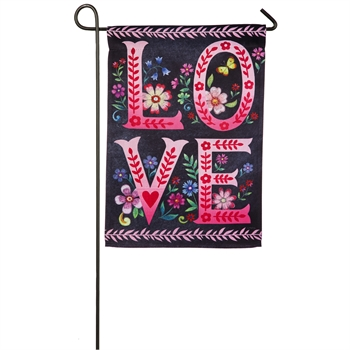 WILDFLOWER LOVE CHALKBOARD [GARDEN FLAG]