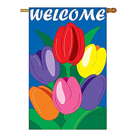 WELCOME TULIPS [APPLIQUE]