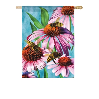 BEES AND CONEFLOWER