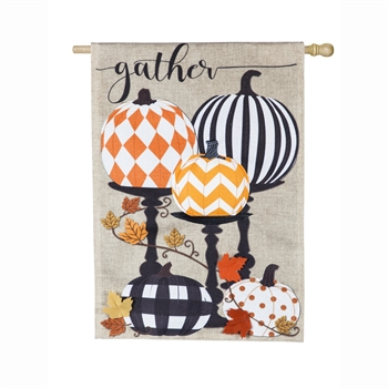 GATHER PATTERN PUMPKINS [BURLAP]